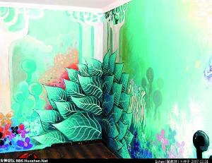 创意生活 DIY墙绘 街头艺术变卧室风景