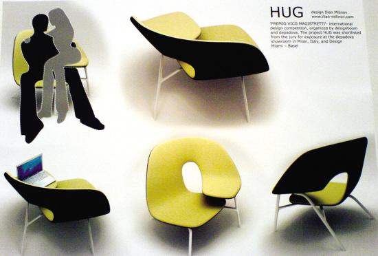 拥抱扶手椅  设计者说,他希望能够用一件绝对简洁的设计,表达出人类图片